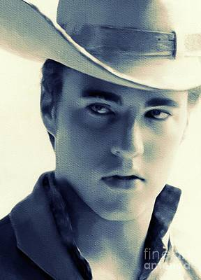 Rock And Roll Royalty-Free and Rights-Managed Images - Ricky Nelson, Music Legend by Mary Bassett