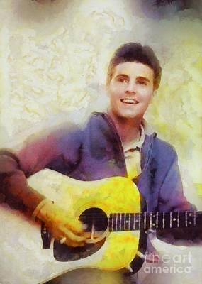 Music Paintings - Ricky Nelson, Music Legend by Esoterica Art Agency