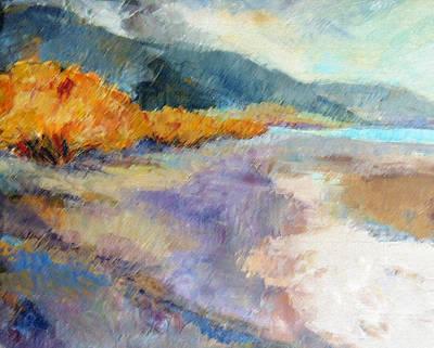 Beach Landscape Mixed Media - Ricky Point I by Peggy Wilson
