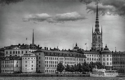 Photograph - Riddarholmen Black And White by Hanny Heim