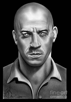Riddick Vin Diesel Art Print by Murphy Elliott