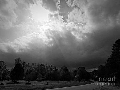 Photograph - Ride Into The Storm Bw by Maria Urso