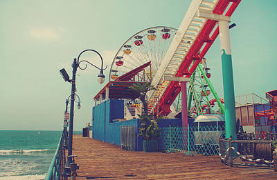 Santa Monica Photograph - Ride It Out by Laurie Search