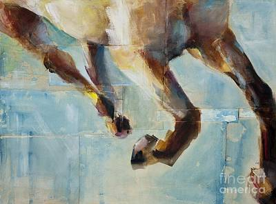 Abstract Equine Painting - Ride Like You Stole It by Frances Marino