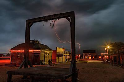 Photograph - Lightning In Old Town Heber. by Johnny Adolphson