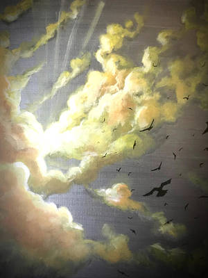 Painting - Ride The Sky by Joel Tesch