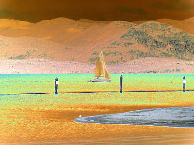 Boating Digital Art - Ride The Wind by Peter  McIntosh