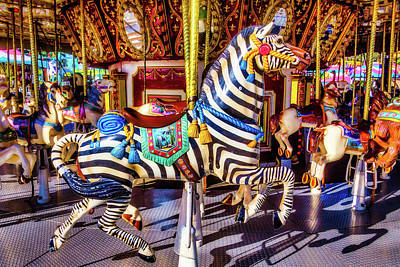 Ride The Zebra Art Print