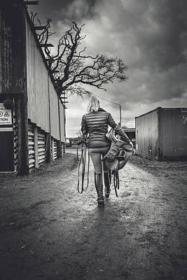 Bridle Photograph - Ride Time by Samuel Whitton