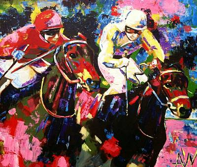 Race Horse Painting - Ride To Glory by Angie Wright