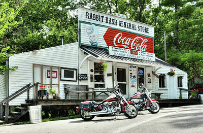 Ride To Rabbit Hash Print by Tri State Art