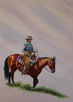 Rawhide Painting - Ride Where The Wind Blows Ya by Valerie Coe