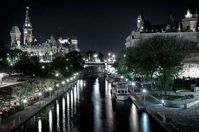 Canadian Parliament Photograph - Rideau Canal Darkness by James Wheeler