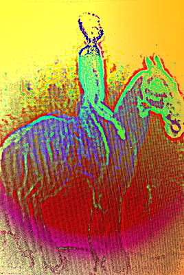 Conscious Painting - I'm The Silent Rider Who Sees Nothing And Hears Nothing  by Hilde Widerberg
