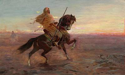 Rider In The Desert Art Print by Eastern Accent