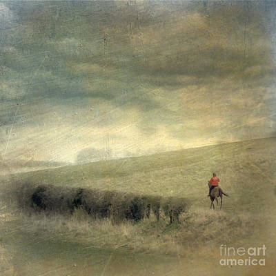 Rider In The Storm Art Print by LemonArt Photography