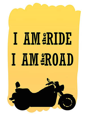 Digital Art - Rider Is The Ride Is The Road by Keshava Shukla