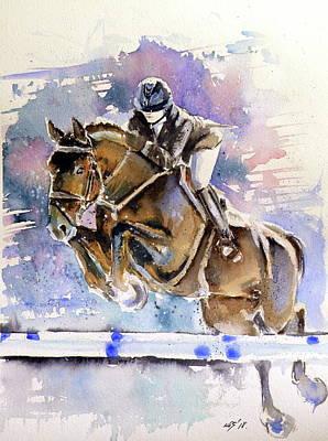 Painting - Rider by Kovacs Anna Brigitta