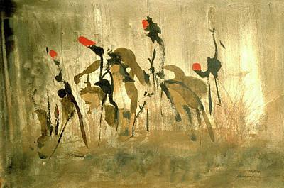 Figurativ Painting - Riders  by Heinz Sterzenbach