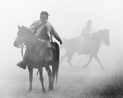 Photograph - Riders In Fog by Alan Raasch