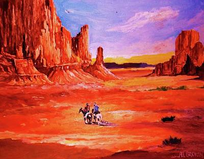 Painting - Riders In The Valley Of The Giants by Al Brown