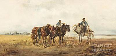 Oil Painting - Riders by MotionAge Designs