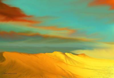 Digital Art - Ridge by Kerry Beverly