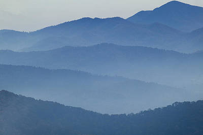 Ridgelines Great Smoky Mountains Art Print by Rich Franco