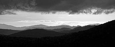 Ridgelines In Black And White Art Print by Matt Plyler