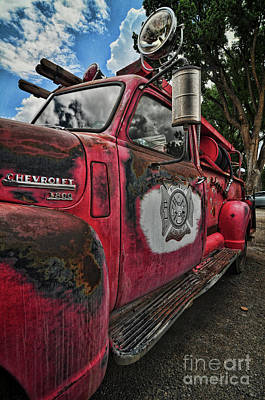 Photograph - Ridgway Fire Truck by Randy Rogers