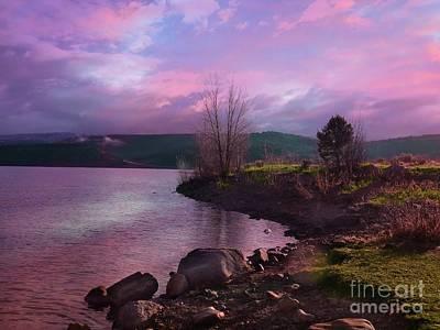 Digital Art - Ridgway Reservoir  by Annie Gibbons