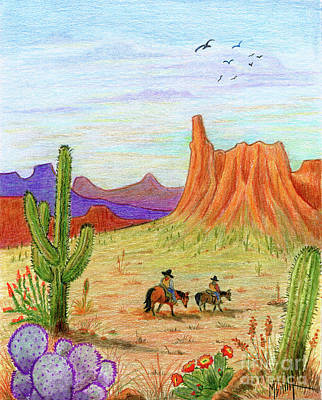 Drawing - Ridin' The Range by Marilyn Smith