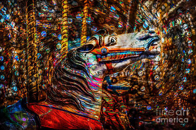 Photograph - Riding A Carousel In My Colorful Dream by Michael Arend