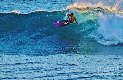 Photograph - Riding A Purple Board by Craig Wood