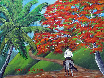 Painting - Riding Along by Luis F Rodriguez