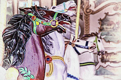 Boston Photograph - Riding Along On A Carousel by Marcia Colelli