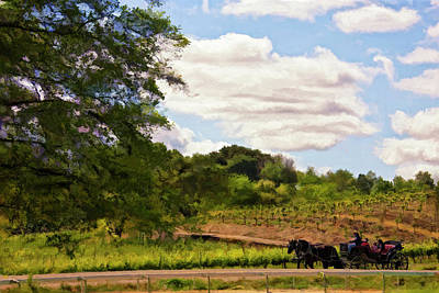 Winery Digital Art - Riding Along by Patricia Stalter