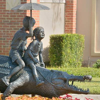 Photograph - Riding An Alligator by Bradford Martin