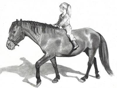 Riding Bareback Art Print by Joyce Geleynse