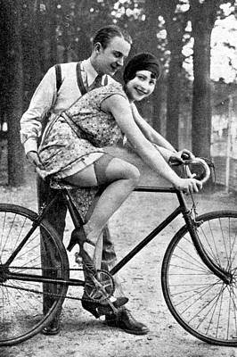 Vintage Female Nudes Photograph - Riding Bike Makes Sexy by Steve K