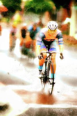 Bike Race Photograph - Riding By Colors  by Steven Digman