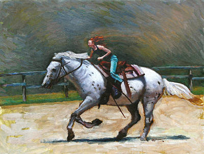Painting - Riding Dollar by Jeff Dickson