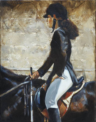 English Horse Painting - Riding English by Harvie Brown