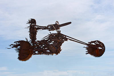 Photograph - Riding High - Sturgis Metal Sculpture by Marie Jamieson