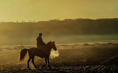 Photograph - Riding His Horse by Pradeep Raja Prints