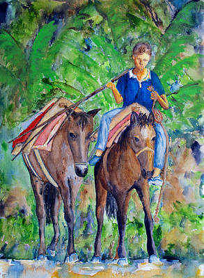 Painting - Riding Home by Patricia Beebe