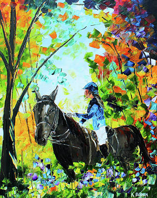 Painting - Riding In The Woods by Kevin Brown