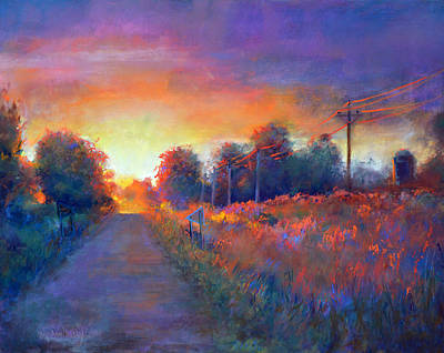 Riding Into The Sunset Original by MaryAnn Cleary