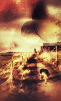 Digital Art - Riding Offworld by Isabella F Abbie Shores