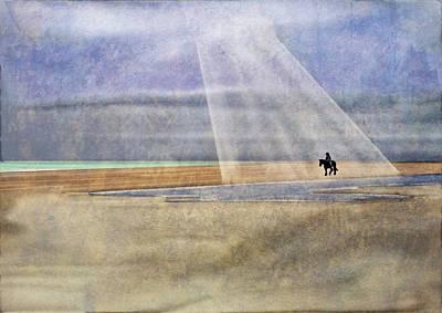Digital Art - Riding On The Beach by Brett Shand